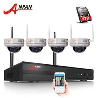 4CH WIFI NVR Sistema di sicurezza 1080P CCTV NVR HDMI 4PCS 2.0 megapixel Dome 30 IR IP Camera Wireless 2TB HDD opzionale