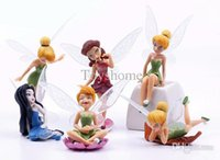 Wholesale Tinkerbell Toy Doll - Wholesale-KidS' Cute Style Action Figure Dolls Girl's Tinkerbell Fairy PVC Action Figure Toys Gift For Children Toys Brinquedos
