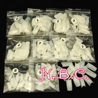 Wholesale black french tip nails online - Nail Tips Natural French Acrylic Artificial False Nails Retail Half Nail Tips Finger Nail Tools Manicure UV Gel Builder