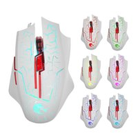 Wholesale Mouse Pc Gamer - H800 Gaming Mouse 6 Buttons LED Optical USB Wired Mice for Gamer Computer PC Laptop High Quality