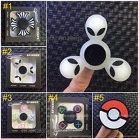 Wholesale Dry Silica Gel - Poke Ball Alien noctilucent Hand Spinners Fidget Spinner Top Silica gel Finger Spinning Colorful Decompression Toys B001