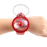 Wholesale Electric Cartoon Fans - 2017 Children Cartoon Wristband Watch Fans Factory Direct Explosion Models Summer Creative Portable Handheld Mini Electric Fan Cooler