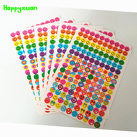 Wholesale Craft Paper Notebook - Happyxuan 100 sheets lot 21*15cm Colorful Smiley Face Stickers Funny Kindergarten Rewards Paper Children Decoractions Crafts Toy