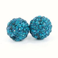 Hot Selling Fashion Spacer Beads Rhinestone Disco Pave Loose Shamballa Ball Beads para Acessórios de Vestuário 100pcs / bag
