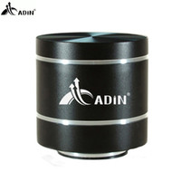 Wholesale Small Portable Radio Speaker - Wholesale- 2017 ADIN HIFI Metal Vibration Speaker Mini Portable 5W Intelligent Remote Subwoofer Small Speakers TF Bass FM Radio Speakers