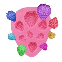 Wholesale Strawberries Soap Molds - New Design 7 Holes Strawberry Shaped Silicone Molds for Cake Decorating Chocolate Soap Mould Baking Tools for Cakes SM-110