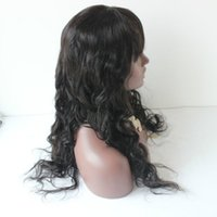 Wholesale Heavy Density Full Lace Wigs - Brazilian Virgin Human Hair Wigs 180% Heavy Density Full Lace Wigs Body Wave Natural Black Glueless Full Lace Wigs