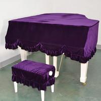 Wholesale Piano Grand - Most useful Pleuche Grand Piano Bordered Dust Protective Cover Cloth Piano Cover- 150Size - Purple