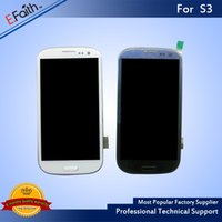 Wholesale Galaxy S3 Lcd Digitizer Replacement - 1PC  LOT For Samsung Galaxy Siii S3 i9300 i747 T999 i535 R530 L710 Black Touch LCD Screen Digitizer Replacements With Frame & Free Shipping