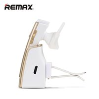 Wholesale Cell Phone Charger Speaker - 100% Original Smart Car Bleutooth Headset Remax RB-T6C Handsfree Bluetooth Earphones Wireless Charger Portable Headphones Speaker