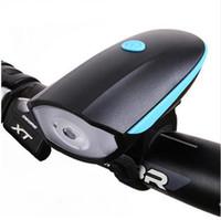 luces led venda por atacado-USB recarregável Bike Light Lanterna LED com 120 db Sino Luces MTB Road Bike Cycling Luz de bicicleta faróis Chifre Combo