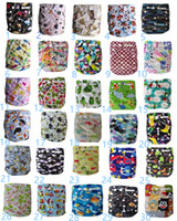 New Print Diapers Reutilisable Baby Soft Cloth Paquet Nappy + Nappies Pads Toddler Training Pantalons Coton Coton Lavable Imperméable Frais Couleur