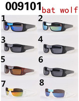 Wholesale Eyewear Sun Glasses Driving - 2016 hot sale summer men driving sun glasses Sports Eyewear women's goggle bat wolf Bicycle Glass Travel glasses A+++ 9colors free ship