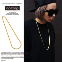 Wholesale Women Thick Gold Chain - The European and American fashion accessory 18 k high quality new thick gold plating Men and women fashion hip-hop hip hop necklace high qua