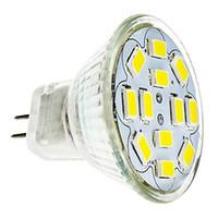 Wholesale Led Spot Light Mr11 - Wholesale- HRSOD 5X GU4(MR11) 6W 12 SMD 5730 570 LM Natural White warm white MR11 LED Spot light Bulb DC 12 V