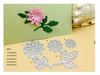 Wholesale Invitation Design Flowers - 2017 new design 5pc flower and leaf metal cutting dies stencil for Scrapbooking invitation Card decorative steel templete