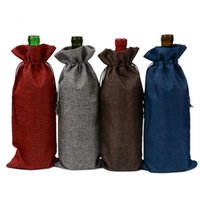 """Wholesale Wholesale Holiday Wine Bags - Wine Bottle Gift Bags 15x37cm (6""""x 14.5"""") Birthday Wedding party Decorate Champagne promotion Pouch"""