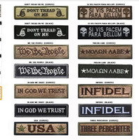 Wholesale Banner Sets - Morale Slogan Banner Embroidery Badge Patch Military Armband Men Women Embroidered Tactical Patches 2.6*9.5CM