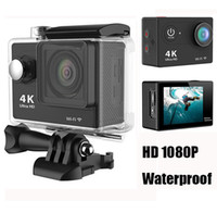Wholesale Sports Wide Angle Camera - Ultra HD 4K 1080P WiFi Sport Action Camera Waterproof DV Helmet Video Camcorder DVR 170 Degree Wide Angle H9