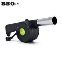 Wholesale Hand Crank Bellows - New BBQ Fan Air Gun Pistol Metal Blower Fire Fan Fire Bellow Hand Crank Portable Gun welding pistol Outdoor Tool Barbecue Grill
