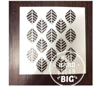 Wholesale Templates For Printing - Drawing stencil printing designs wholesale laser cut stencils Masking template For Scrapbooking album and more-leaf backgroud 257