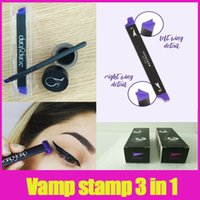 Wholesale Stamping Kits - Vamp stamp seals Eyeliner Silicone Swing Stamp eyeliner tools large medium kitten Vavavoom Black Color Kit