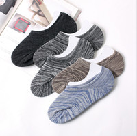 Wholesale Silicone Male Body - Spring Summer Fashion Casual Classic Men Invisible Socks Male Shallow Mouth Socks Non-slip Silicone Boat Sock Breathable outdoor sports sock
