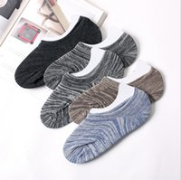 Wholesale male silicone bodies resale online - Spring Summer Fashion Casual Classic Men Invisible Socks Male Shallow Mouth Socks Non slip Silicone Boat Sock Breathable outdoor sports sock