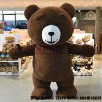 Wholesale Cheap Plus Size Teddies - Teddy bear mascot costume EMS free shipping, cheap high quality carnival party Fancy plush walking bear mascot adult size.