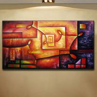 ingrosso la migliore tela di pittura di arte astratta-La pittura a olio moderna astratta di arte di passione di colore di successo più venduto per la decorazione della parete della casa, su dimensione della tela di alta qualità può essere personalizzata