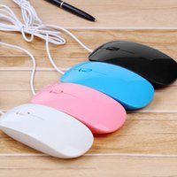 Wholesale Apple Laptop Mouse - Universal 1200dpi Wired Optical Mouse Ultra Slim High Quality Mice USB for PC Laptop Macbook Apple Desk Top Tablet Computer 100pcs up
