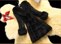 Wholesale Ladies Garment Fur Coat - HOT! Fur coat 2015 Women's Winter Overcoat Fashion Faux Rabbit Coat with Fox Collar Female Outerwear Lady Garment