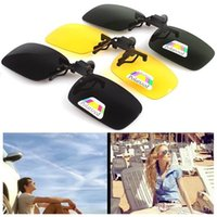 New Fashion Clip-on Óculos Polarized Glasses Day Night Vision Clips de óculos de sol Driving Glasses frete grátis B0971