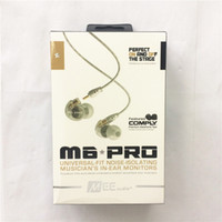 Wholesale Headphone Pro White - MEE Audio M6 PRO Noise Canceling 3.5mm HiFi In-Ear Monitors Earphones with Cables Sports Wired Headphones 2 Colors with retail box