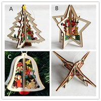 Wholesale wooden christmas ornaments wholesale - New Wooden Christmas Shapes Embellishment Xmas Tree Decoration
