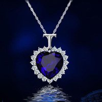 Wholesale Red Titanic - Crystals Titanic Heart Ocean Love Necklaces & Pendants for Women Fashion Jewelry Birthday Best Friends Gifts 2017