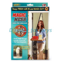 Wholesale Magnetic Anti Mosquito Mesh - Fly Mosquito Door Anti Insect Net Netting Megic Mesh Hands-Free Screen Magnets Magnetic Popular Keep Fresh Bugs out