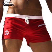 maiôs sexy para boxers venda por atacado-Atacado- 2017 Novos Homens Swimwear Maiôs Sexy de Alta Qualidade Homens Swim Boxer Troncos Homens Beachwear Board Surf Shorts Natação Troncos