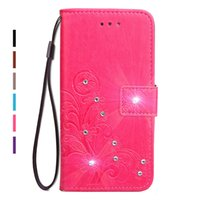 Bling Diamond Rhinestone PU Leather Case para Sony Xperia X Compact Flip Wallet Stand Cover para Sony XZ Premium X Performance XZ XR