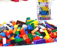 Wholesale Bulk Plastic Toys - 1000pcs lot DIY Bulk Building Blocks 14 Types 10 Colors Building Bricks Construction Brick Building Blocks Toys for Kids