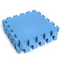 padded floor mats gym - cm EVA Foam Yoga Soft Split Joint Square Mat Blue Puzzle Interlocking Exercise Gym Sport Floor Pad Solid Tile Mats
