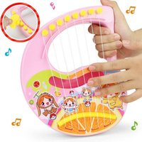 Wholesale Musical Instrument Accordion - 2017 new Puzzle toys children ABS guitar can play musical instruments eight strings accordion free shipping