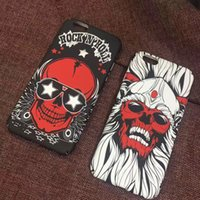 Wholesale Skull Iphone Hard Case - Brand New Fashion Men's Cool Skull Frosted Hard PC Phone Case Back Cover for iPhone 6 6s 6 Plus 7 7 Plus