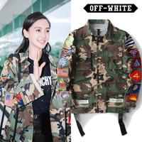 Wholesale Pyrex Kanye - OFF-WHITE 13 Jackets Men High Quality Camouflage Military Army Kanye West Pyrex Hip Hop Autumn Off White VIRGIL ABLOH Camo Veste
