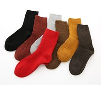 Wholesale Thick Warm Socks For Winter - High Grade Wool Blend Socks for Ladies 2017 Winter Thick Warm Stockings Female Solid Color 20pairs