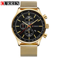 Wholesale Mens Curren Waterproof Watches - Mens Watches Original CURREN 2017 Orologio Uomo Sapphire 3 ATM Waterproof Quartz Watch Male Sport Clock Military Watch 1PCS Drop Shipping