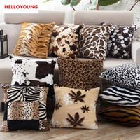 Wholesale Seat Lumbar Pillow - BZ030 Luxury Cushion Cover Pillow Case Home Textiles supplies Lumbar Pillow Short plush chair seat