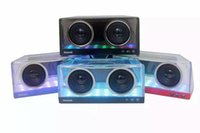altavoz bluetooth transparente al por mayor-Crystal Bluetooth Mini altavoz impermeable luz LED Sound Box X3 Wireless subwoofers al aire libre TF MP3 reproductor de música Transparente Hifii Bass