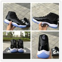 Wholesale Elastic Shoes - 2017 retro 11 XI Basketball Shoes men women Space Jam 11s Bred Legend Blue Discount 2017 Sports Shoes Leather Running Shoe Sport With Box
