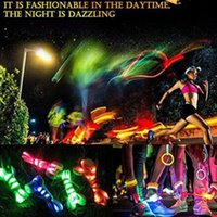 leuchtende turnschuhe großhandel-300 Stücke LED Schnürsenkel Leuchtende Blinkende Schnürsenkel Disco Party Casual Sneaker Leuchten Wasserdichte Glow Nylon Strap Lampe Bunte